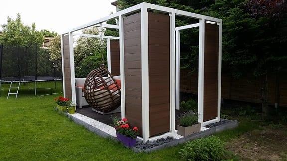 Mocowanie punktowe do szkła na konstrukcji drewnianej
