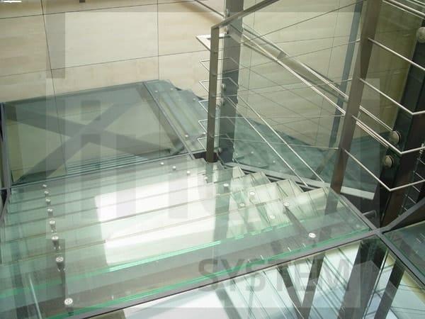 Mocowanie punktowe do szkła na podłogi